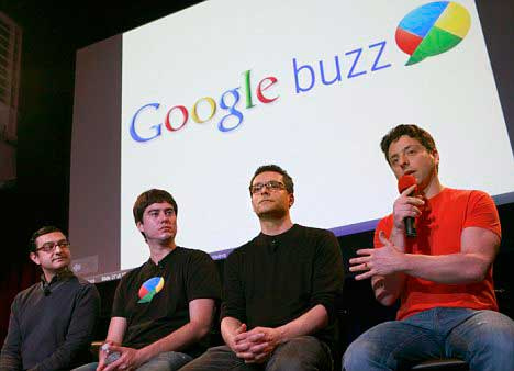 "Google Launches New Social Network ""Google Buzz"" - Google founder Sergei Brin"