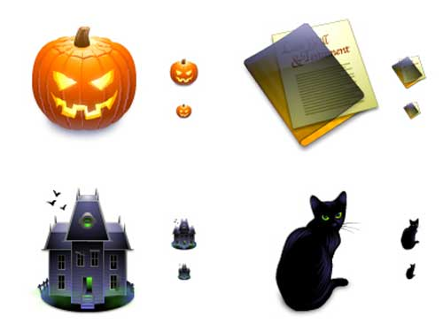 Great Halloween Icons - World of Aqua After Dark Halloween Icons