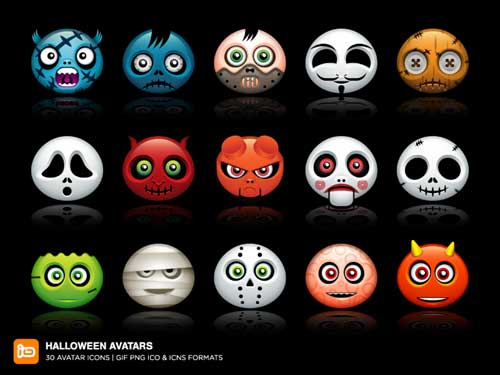 Great Halloween Icons - Halloween Avatars / Halloween icons by Deleket
