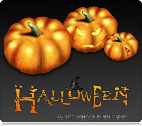 Great Halloween Icons - Haunted Halloween Icons Set by Benji Garner