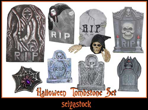 Halloween Tombstone set - Halloween Images, Vectors & Elements