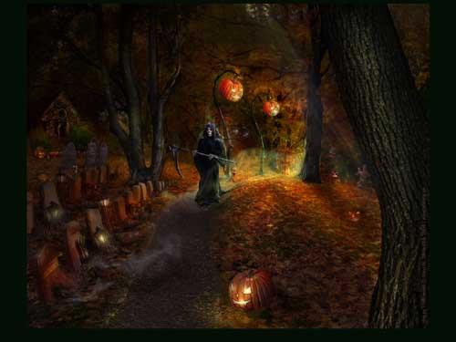 Halloween Grim Reaper Wallpaper