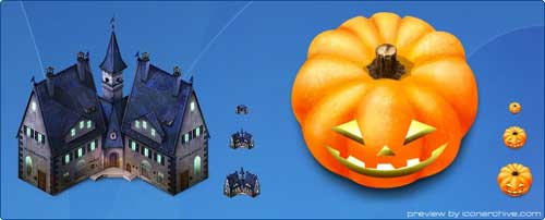 Great Halloween Icons - Haunted Hotel Halloween Icons by Hybridworks