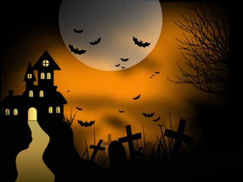 Halloween Vector – Haunted House