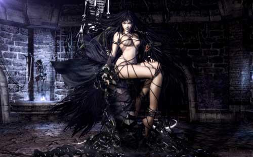 Gothic Woman Halloween Wallpaper