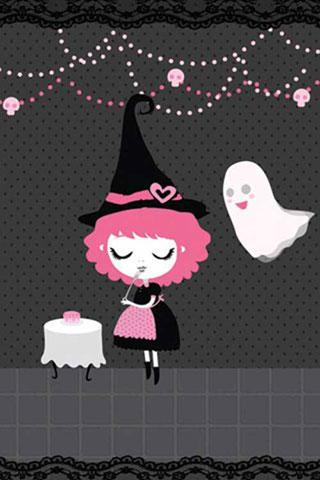 Pinkk Halloween iPhone Wallpaper