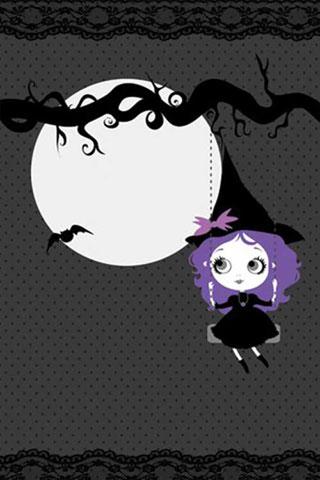 Violet Halloween iPhone Wallpaper