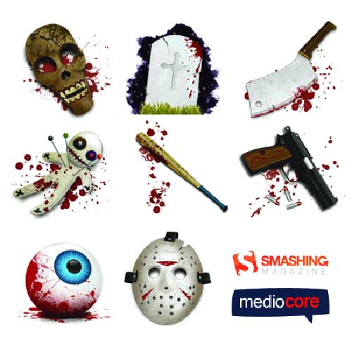 Great Halloween Icons - Horror Halloween Icons Set by David Arazim Smashing Magazine