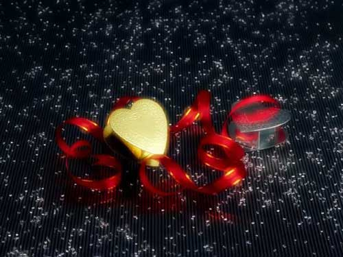 Best Christmas Images, Icons & Wallpapers - Christmas Hearts Wallpaper