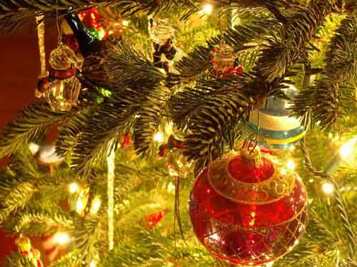Best Christmas Images, Icons & Wallpapers - Christmas Tree Ornaments Wallpaper