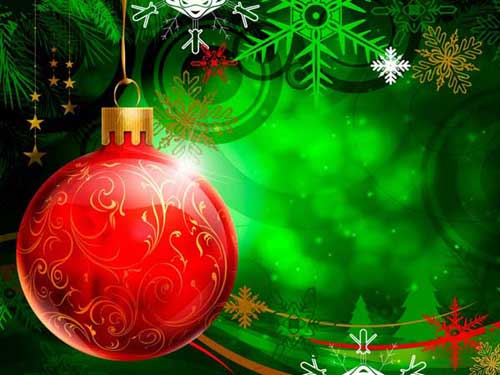 Best Christmas Images, Icons & Wallpapers - Red Christmas Ball Wallpaper
