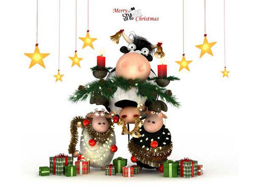 Best Christmas Icons, Wallpapers & Images - Merry Sheeps Xmas Wallpaper