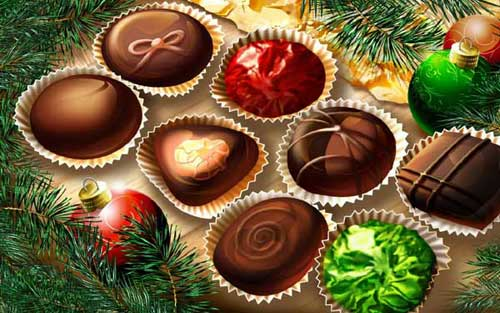 Best Christmas Icons, Wallpapers & Images - Sweet Tree Candies Wallpaper