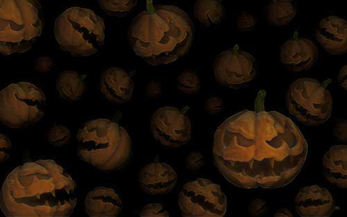 Halloween Wallpapers - A lot of Halloween Pumpkins