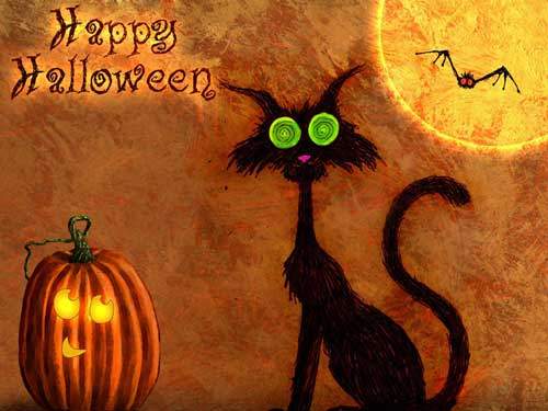Halloween Wallpapers - Black Cat Halloween Wallpaper