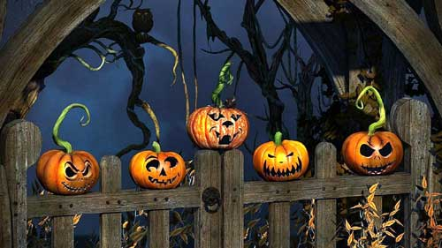 Halloween Wallpapers - Wicked Pumpkins Halloween Wallpaper