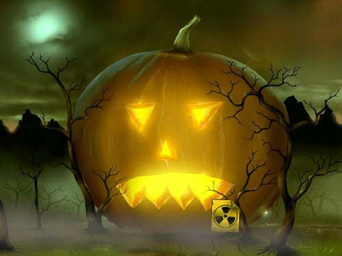 Halloween Wallpapers - Radioactive Pumpkin