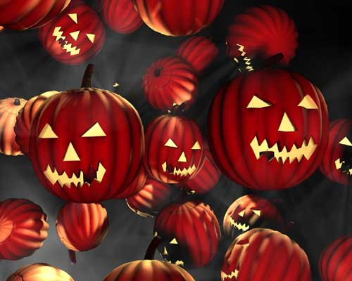 Halloween wallpapers - Red Pumpkins