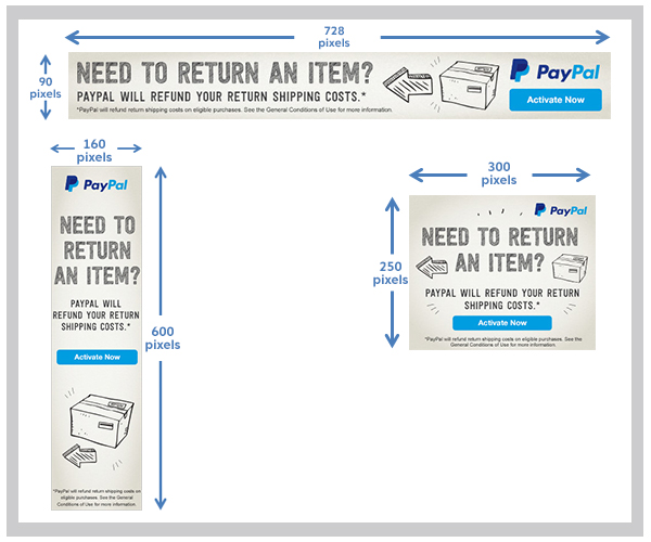 PayPal Refunded Return Shipping Service banners